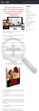 Sexual Attraction: Make Any Girl Feel A Strong Sexual Desire For You preview. Click for more details
