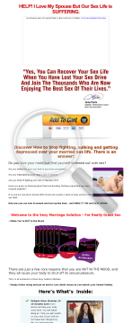 Sexy Marriage Solution: Great Sex When You're Not In The Mood preview. Click for more details