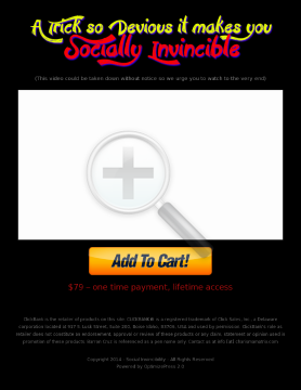 Social Invincibility preview. Click for more details