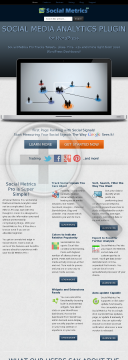 Social Metrics Pro - No.1 Social Signals Analytics For WordPress preview. Click for more details
