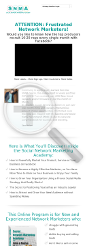 Social Network Marketing Academy preview. Click for more details