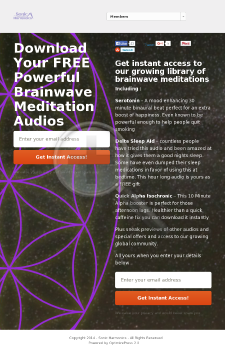 Sonic Harmonics - Meditation & Relaxation Audio Downloads preview. Click for more details