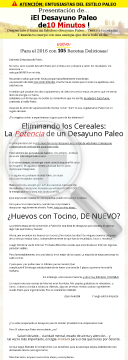 Spanish Version Of Paleo Breakfast Bible preview. Click for more details