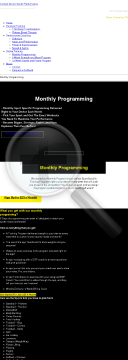 Sport Specific Monthly Programming preview. Click for more details