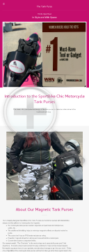 Sportbike Chic Patented Magnetic Motorcycle Tank Purse preview. Click for more details
