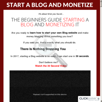 Start A Blog And Monetize preview. Click for more details