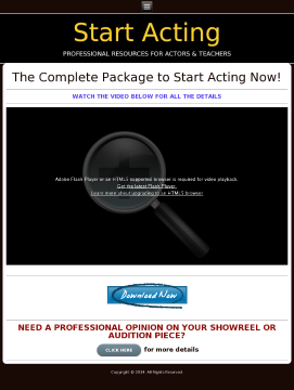 Start Acting! The Complete Package For Actors & Teachers. preview. Click for more details