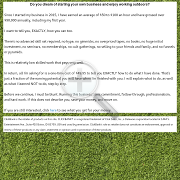 Start Your Own Landscaping Business 90k+ Per Year, Low Skill! preview. Click for more details