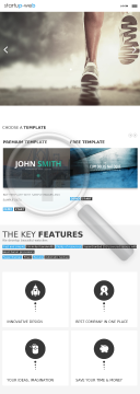 Startup Web preview. Click for more details
