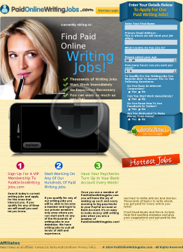 Stop! Paid Online Writing Jobs - New Killer Affiliate Dashboard preview. Click for more details