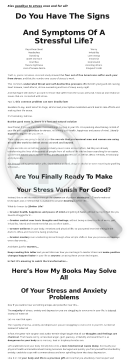 Stress Relief For Professionals preview. Click for more details