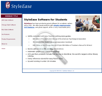 Styleease Software - Tools For Academic Writers preview. Click for more details