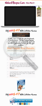 Super Complete Program For Being Herpes Free. Cold Sores Ebook Inside! preview. Click for more details