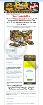 Super Fast List Building Course preview. Click for more details