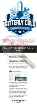 Survive 2016 Polar Vortex - Bitterly Cold Defense Guide preview. Click for more details