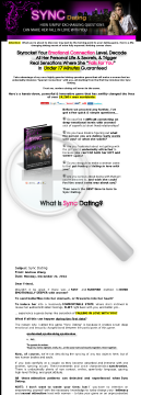 Sync Dating   Powerful Breakthrough Product! Hot Demand! preview. Click for more details