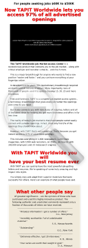 Tapit Worldwide - An Easier Way To Change Jobs preview. Click for more details