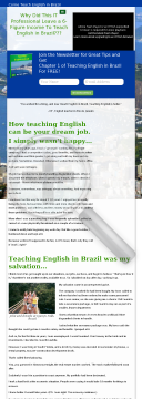 Teaching English In Brazil E-book preview. Click for more details