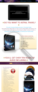 Ten Step Ap - The Science Of Astral Projection preview. Click for more details