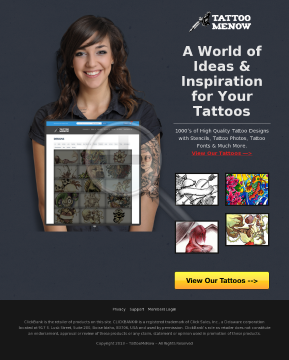 The #1 Converting Tattoo Offer On CB preview. Click for more details