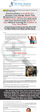 The 30 Day Rapid Slim Down Transformation Program preview. Click for more details