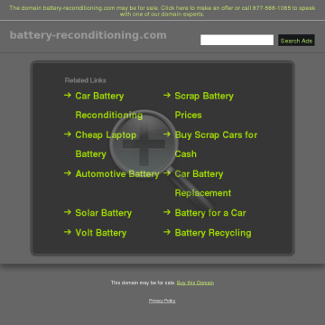 The Battery Reconditioning Report preview. Click for more details