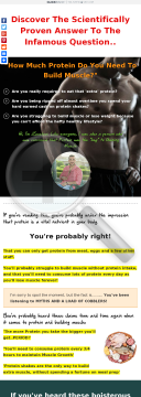 The Best Selling Protein Guide, Build Muscle Naturally And Permanently preview. Click for more details