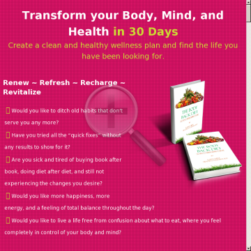 The Body Back Diet preview. Click for more details
