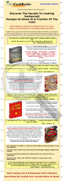 The E-cookbooks Library. preview. Click for more details