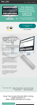 The First Internet Powered Song Learning Software By Hearandplay.com preview. Click for more details