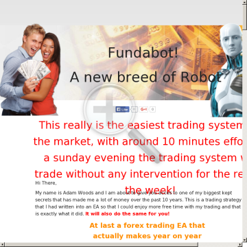 The Fundabot Forex Trading System preview. Click for more details