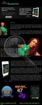 The Game For Gamers! Great Dating Guide Targeted To Gamers! preview. Click for more details