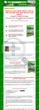 The Golf Beginner Guide preview. Click for more details