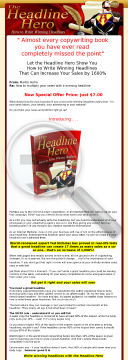 The Headline Hero's Master Guide To Writing Winning Headlines preview. Click for more details