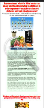 The Holy Grail Of Health: God's Health Laws preview. Click for more details