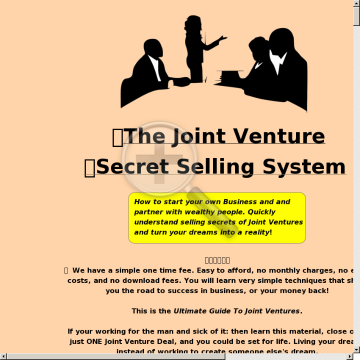 The Joint Venture Secret Selling System preview. Click for more details