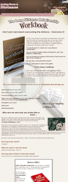 The Long Distance Relationship Workbook preview. Click for more details