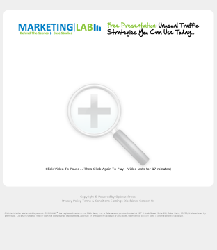 The Marketing Lab preview. Click for more details
