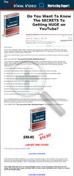 The Secret Viral Video Marketing Report preview. Click for more details