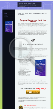 The Starter's Mindset, A Must Read For All Starting Entrepreneurs preview. Click for more details