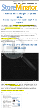 The Storeminator Price Comparison Plugin For WordPress preview. Click for more details
