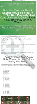 The Stress-free Golf Swing preview. Click for more details
