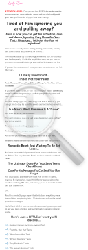 The Ultimate Done For You Sexy Texts Cheatsheet preview. Click for more details