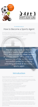 The Ultimate Guide On How To Become A Sports Agent preview. Click for more details