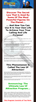 The Ultimate Law Of Attraction Program - 75% Commissions preview. Click for more details