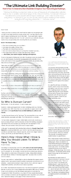The Ultimate Link Building Dossier By Duncan Carver preview. Click for more details