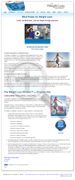 The Weight Loss Mindset Hypnosis Program preview. Click for more details
