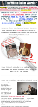 The White Collar Warrior Bodyweight Workout System preview. Click for more details