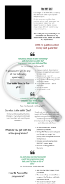 The Why Diet preview. Click for more details