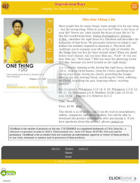 This One Thing I Do preview. Click for more details